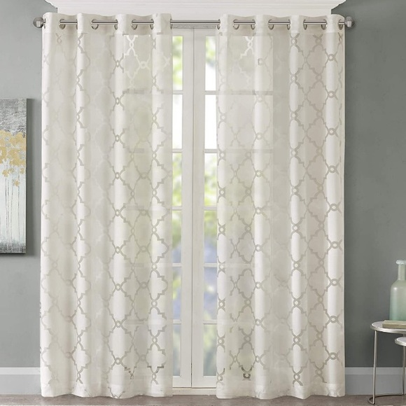 Madison Park Other - Madison Park Eden Ivory Sheer Curtain  50x84